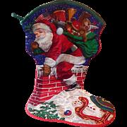 "Cranston Jumbo ""Santas Visit"" Christmas Stocking"