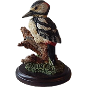 Great Spotted Woodpecker Bird Figurine