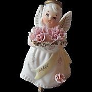 Lefton May Birthday Angel Figurine