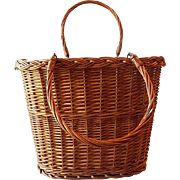 Two Handled Wicker Gathering  Basket