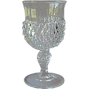Indiana Glass Diamond Point Crystal Goblet