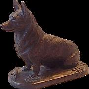 Realities Cold Cast Bronze Corgi Dog Statuette