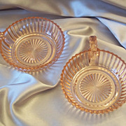 Two  Queen Mary Depression Pink Bowls
