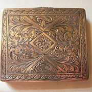 Continental 800 Silver Italy Intricately Etched Case