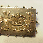 Sterling & Rose Gold Victoria Silver Jubilee Brooch