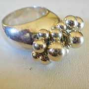 "Retired Modernist Silpada Sterling ""Cha-Cha"" Ring"