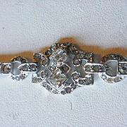 Art Deco Era Sterling Paste Bracelet