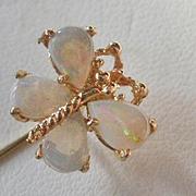 14k Opal Butterfly Stick Pin