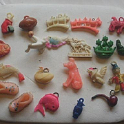 24 Vintage Celluloid Gumball Toy Prizes