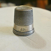 Vintage Simmons Sterling Thimble 10