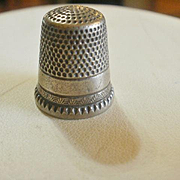 Vintage Ketcham & McDougall Sterling Silver Thimble 7