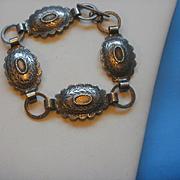 South Western Sterling Concho Bracelet