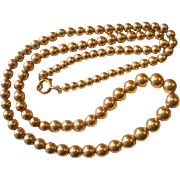 SALE PENDING Vintage Graduated Gold Filled Bead on Chain Necklace