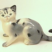 Wonderful Early 20th Century Tabby Cat Figurine