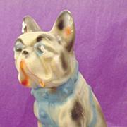 SOLD 1930's Boston Terrier ~ French Bulldog Carnival Chalkware Prize