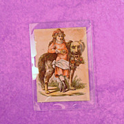SALE Vintage Saint Bernard & Girl Glass Trinket Tray