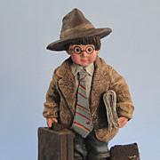Sarah's Attic Executive Whimpy Figurine Business Suit Limited Edition