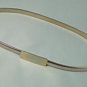 Stretch Goldtone Metal Belt Vintage 1970s Classic Design