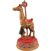 DeBrekht Giraffe Carousel Ornament Musical Folk Art Limited Edition