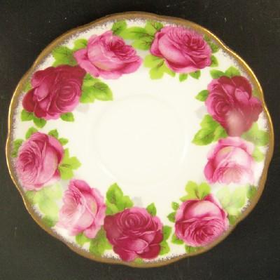 Vintage Royal Albert Bone China Saucer, Vibrant Old English Roses