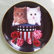 """Danbury Mint Collectors Plate, """"Sweet Independence"""", Coming Up Roses Series, Artist"""