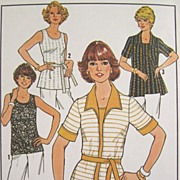 Vintage 1977 Sewing Pattern 'Simple-to-Sew Simplicity 7900 - Tops and Cardigan, Four Sizes 40,