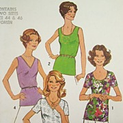 SALE PENDING Vintage 1977 Sewing Pattern 'Simple-to-Sew' Simplicity 7911 - Blouses with Variou