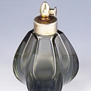 Elegant Smoky Green Perfume Atomizer, 1970s-80s