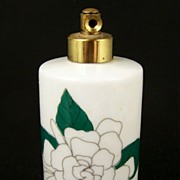 Lovely Vintage Atomizer Perfume Bottle, Peony Flowers, 1960s-70s
