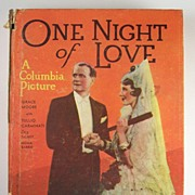 """Grace Moore & Tullio Carminati """"Little Big Book"""", One Night of Love, with Illustrations from the Photoplays, 1935"""