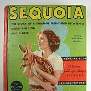 """Jean Parker """"Big Little Book"""", Sequoia: The Story of a Strange Friendship Between a Mountain Lion and a Deer, with Illustrations from the Photoplay, 1935"""