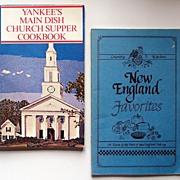 "Pair of Pamphlet Cookbooks: ""New England Favorites"" (1986); ""Yankees Main Dish"