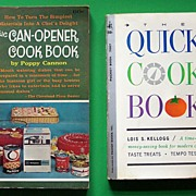 """Pair of Paperback Cookbooks: """"The Quick Cookbook"""" (by Lois Kellogg, 1961), """"The"""