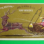 """""""White Russian"""" Trade Card, Jas. S. Kirk & Co. Soap Makers, c. 1900"""