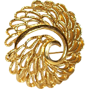 Vintage Openwork Filigree Pin/Brooch