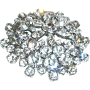 SOLD Vintage Extra-Large Layered Crystal Dome Pin/Brooch