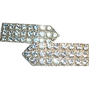 Vintage Sparkling Arrow-shaped Pins Set of Two