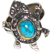 Vintage Turtle Motif Ring