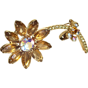 Juliana Long-Stemmed Flower Pin/Brooch