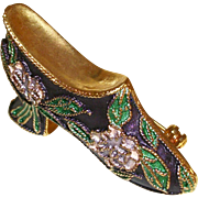 Vintage Cloisonne Shoe Pin/Brooch