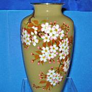 Vintage Japanese Cloisonne Vase, Hayashi Kaname, CA.1950's
