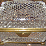 SALE A Fine Antique 19th C. French Cut Crystal Box