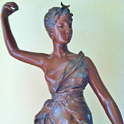 SALE Antique Bronze figure of Diane the Huntress (Chasseresse), 19th Century