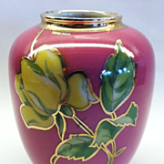 "An unusual Vintage German Porcelain Vase with Silver Overlay, ""KPM"", CA.1920's"