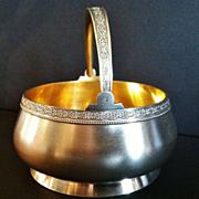 "SALE Russian Silver ""Sugar Basket"", Post Revolution"
