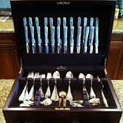 """Napoleonic"" Flatware Service,French .950 Silver,107 Pieces, Geo.Falkenberg,19th Century"