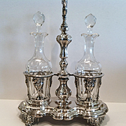 A Fine Antique French Sterling Silver Cruet Stand, CA.1830