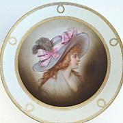 Antique Porcelain Portrait Plate, Wurttemberg, CA.1900