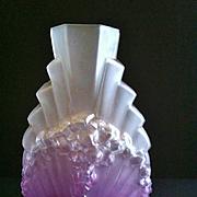 SOLD Rare Schneider Art Deco Glass Vase, 1924-1928 Mark