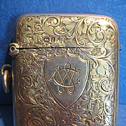 SALE Antique Sterling Matchsafe, English, Chester, CA.1890